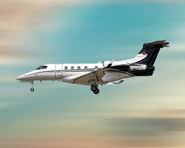 Phenom Poster featuring the mixed media Phenom 300 Arrow by Smart Aviation