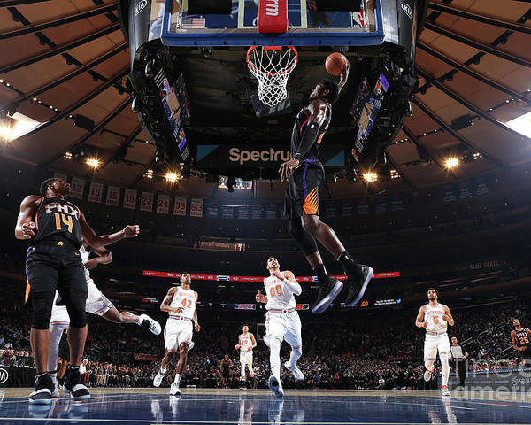 Nba Pro Basketball Poster featuring the photograph Phoenix Suns V New York Knicks by Nathaniel S. Butler