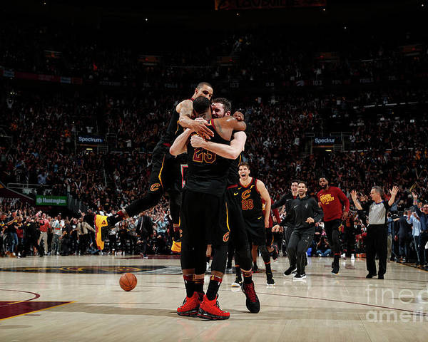 Playoffs Poster featuring the photograph Toronto Raptors V Cleveland Cavaliers - by Jeff Haynes