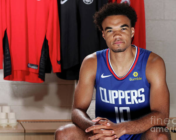 Jerome Robinson Poster featuring the photograph 2018 Nba Rookie Photo Shoot by Nathaniel S. Butler