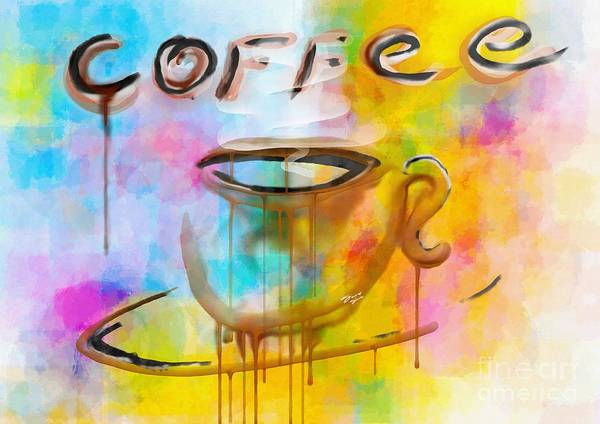 Coffee Poster featuring the painting Abstract Coffee by Stefano Senise