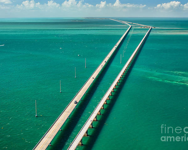 Distance Poster featuring the photograph Aerial View Looking West Along The by Floridastock