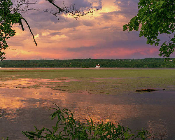 Esopus Lighthouse Poster featuring the photograph After A June Thunderstorm II by Jeff Severson