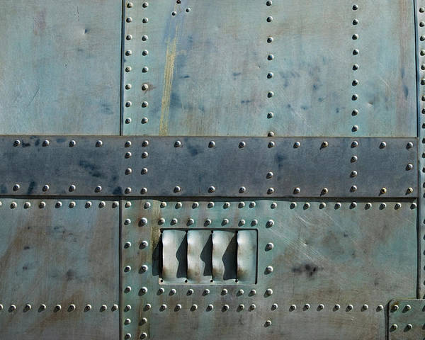 Aircraft Siding With Rivets Poster