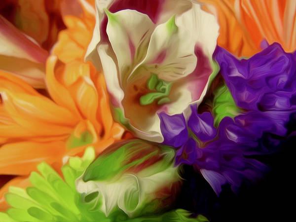 Bouquet Poster featuring the digital art April Memories by Elizabeth Tillar