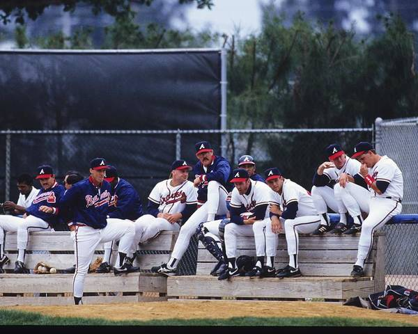Florida Poster featuring the photograph Atlanta Braves by Ronald C. Modra/sports Imagery