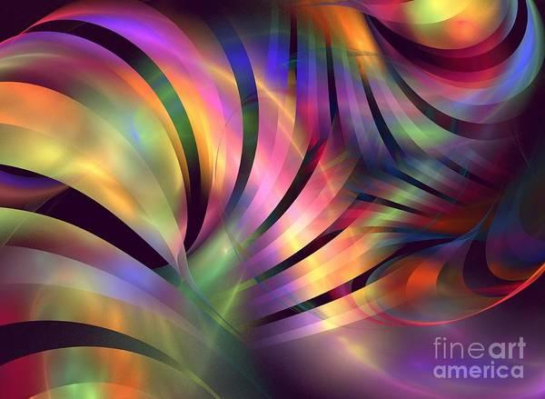 Apophysis Poster featuring the digital art Aurora Borealis by Kim Sy Ok