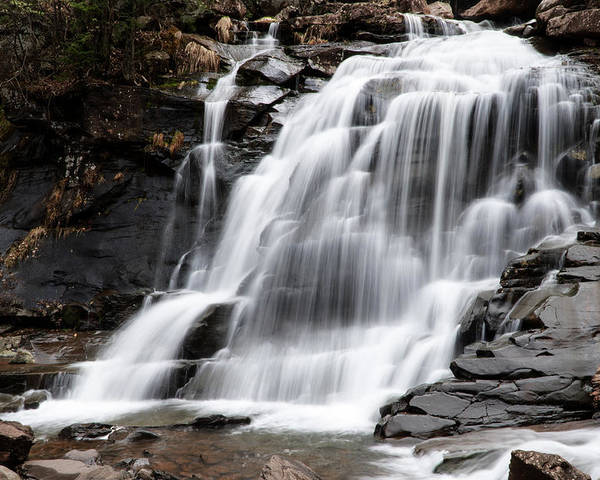 Waterfall Poster featuring the photograph Bastion Falls by Tom Romeo