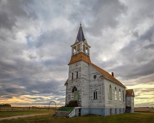 South Dakota Poster featuring the photograph Bethel Lutheran Church II by Harriet Feagin