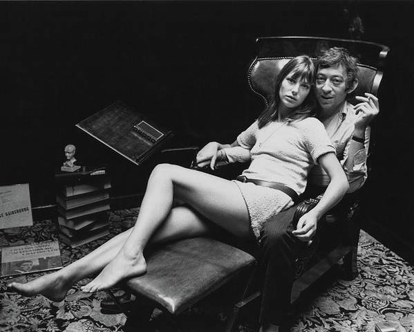 Singer Poster featuring the photograph Birkin And Gainsbourg by Reg Lancaster