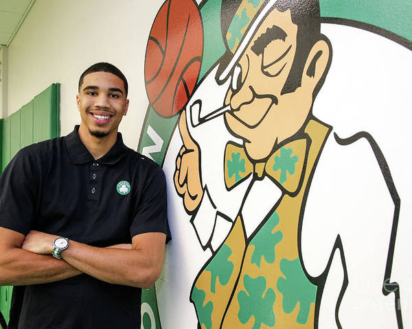 People Poster featuring the photograph Boston Celtics Introduce Jayson Tatum by Chris Marion