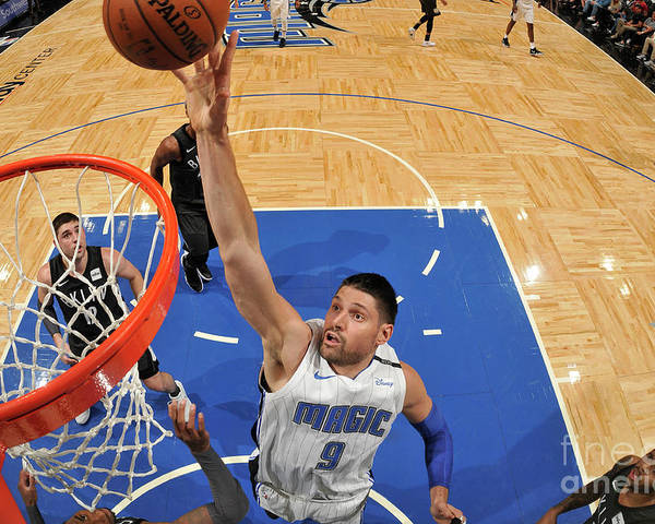 Nba Pro Basketball Poster featuring the photograph Brooklyn Nets V Orlando Magic by Fernando Medina