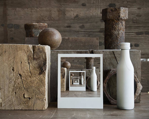 Bodegon Poster featuring the photograph Brown Still Life by Chechi Peinado