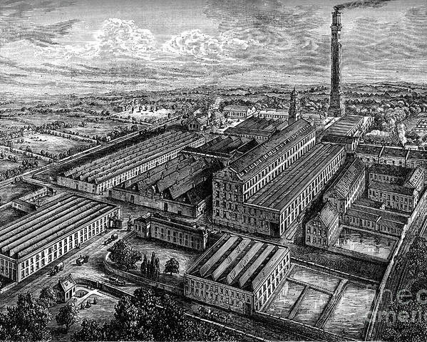 Working Poster featuring the drawing Camperdown Linen Works, Dundee, C1880 by Print Collector