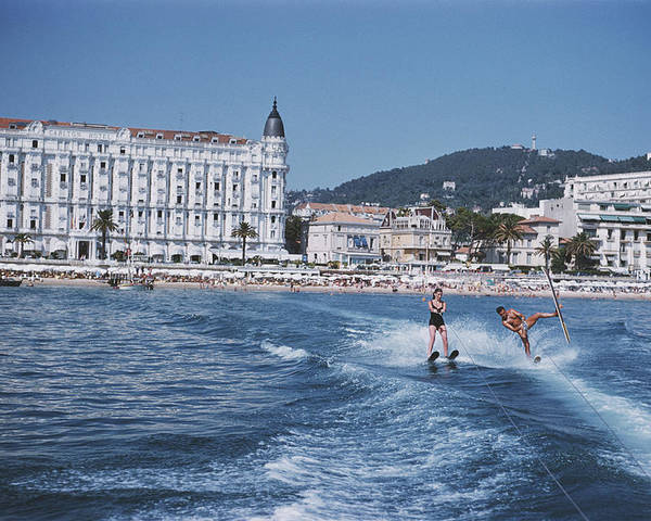 People Poster featuring the photograph Cannes Watersports by Slim Aarons