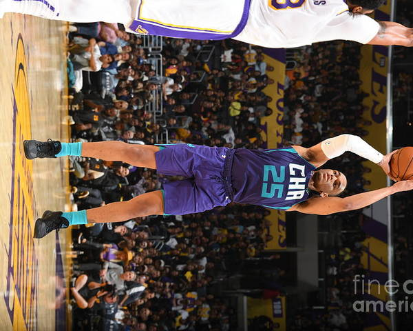 Nba Pro Basketball Poster featuring the photograph Charlotte Hornets V Los Angeles Lakers by Andrew D. Bernstein