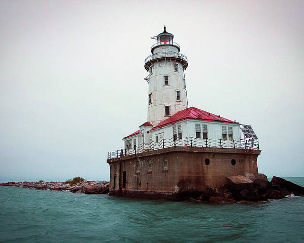 Lighthouse Poster featuring the photograph Chicago Lighthouse by Fred DeSousa