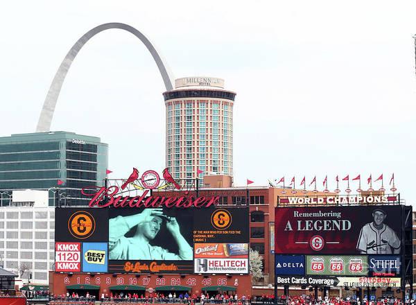 St. Louis Cardinals Poster featuring the photograph Cincinnati Reds V St. Louis Cardinals by Elsa