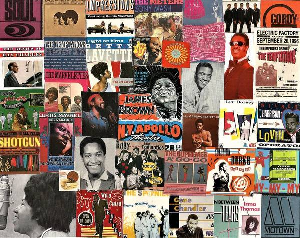 Collage Poster featuring the digital art Classic Soul Collage 1 by Doug Siegel