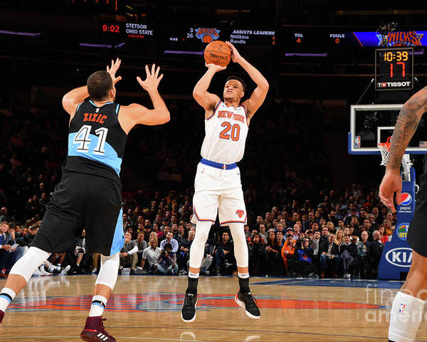 Nba Pro Basketball Poster featuring the photograph Cleveland Cavaliers V New York Knicks by Jesse D. Garrabrant