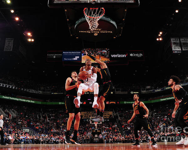 Nba Pro Basketball Poster featuring the photograph Cleveland Cavaliers V Phoenix Suns by Barry Gossage