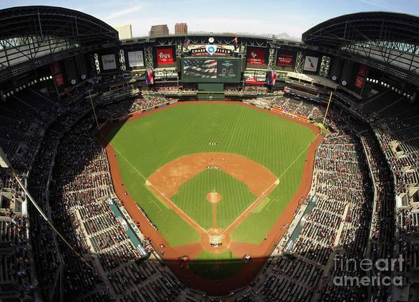 American League Baseball Poster featuring the photograph Cleveland Indians V Arizona Diamondbacks by Christian Petersen