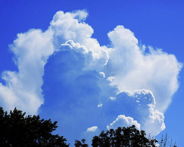 Clouds Poster featuring the photograph Clouds one by John Lautermilch