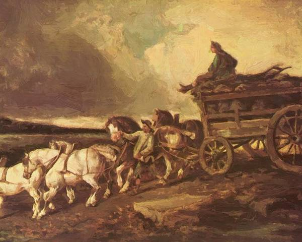 Coal Poster featuring the painting Coal Cars 1822 by Gericault Theodore