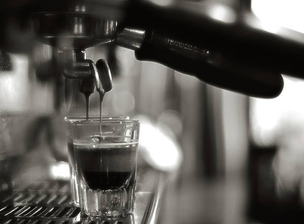 Coffee Maker Poster featuring the photograph Coffee In Glass by Jrj-photo