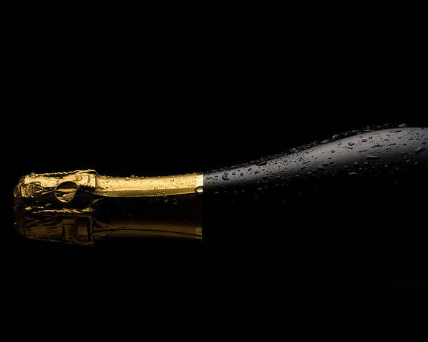Alcohol Poster featuring the photograph Cold Champagne Bottle by P1images