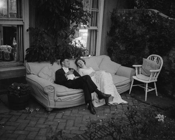 Debutante Poster featuring the photograph Couple At Party by Thurston Hopkins