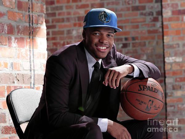 Nba Pro Basketball Poster featuring the photograph Dallas Mavericks Introduce Dennis Smith by Glenn James