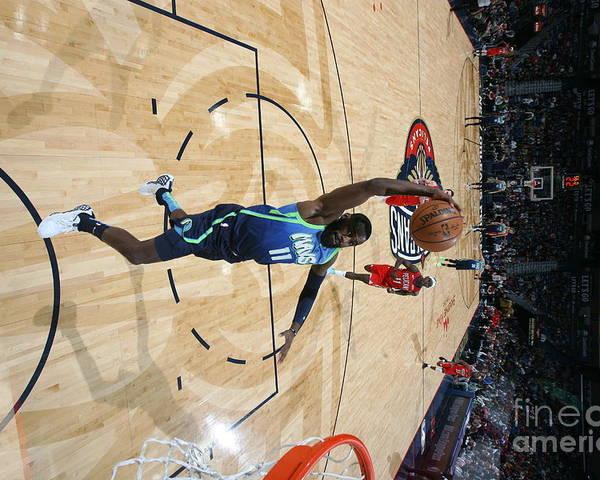 Tim Hardaway Jr. Poster featuring the photograph Dallas Mavericks V New Orleans Pelicans by Layne Murdoch Jr.
