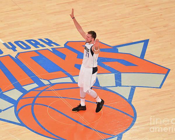 Nba Pro Basketball Poster featuring the photograph Dallas Mavericks V New York Knicks by Jesse D. Garrabrant