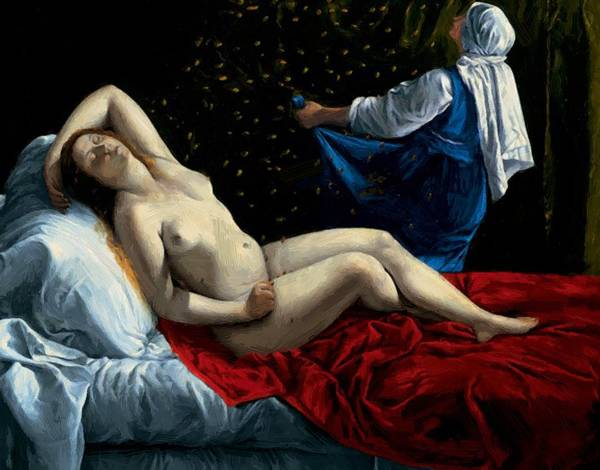 Danae Poster featuring the painting Danae 1612 by Gentileschi Artemisia
