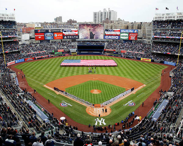 Topics Poster featuring the photograph Detroit Tigers V New York Yankees by Jeff Zelevansky