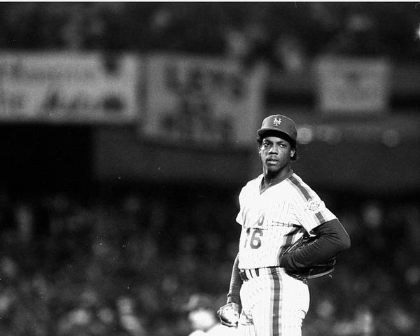 Dwight Gooden Poster featuring the photograph Dwight Goodens First World Series Game by New York Daily News Archive