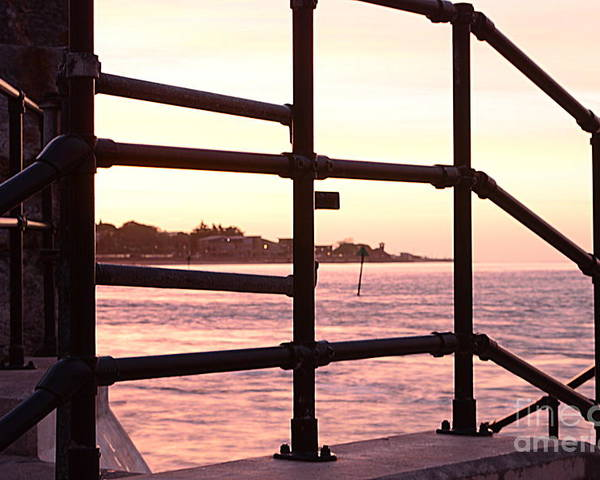 Railings Poster featuring the photograph Early Morning Railings by Andy Thompson