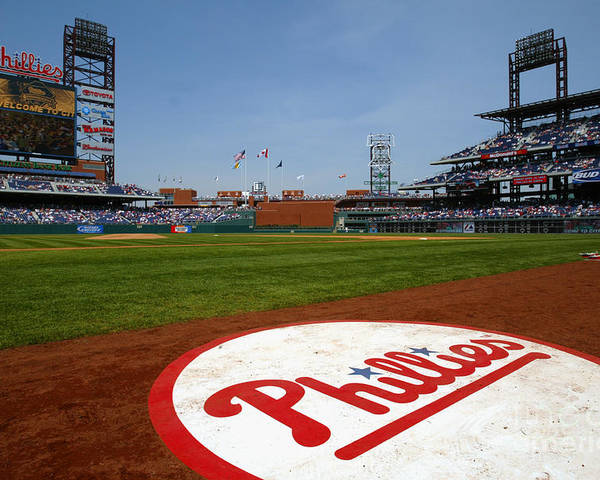 Scenics Poster featuring the photograph Expos V Phillies by Jamie Squire