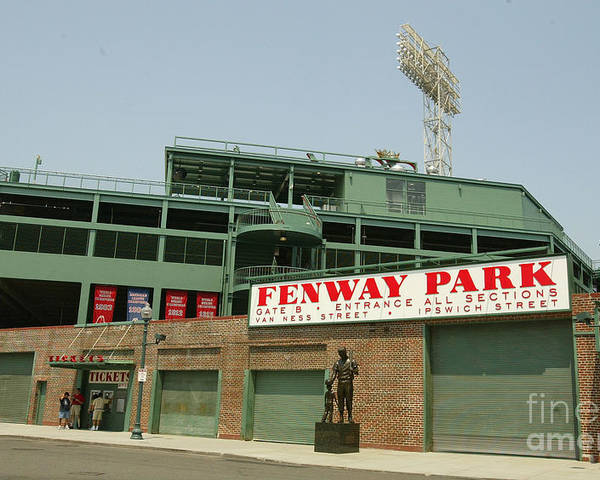 American League Baseball Poster featuring the photograph Fenway Park by Getty Images