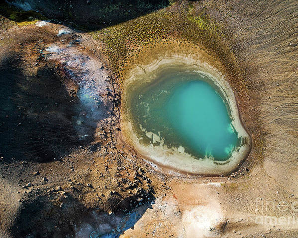 Lake Poster featuring the photograph Geothermal Area And Lake by Michael Szoenyi/science Photo Library