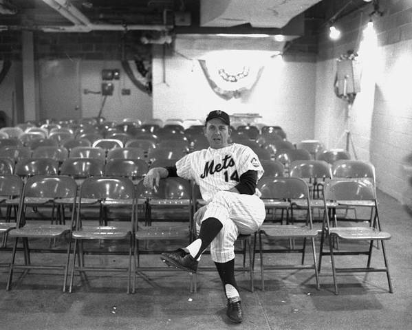 American League Baseball Poster featuring the photograph Gil Hodges Of The 1969 New York Mets by New York Daily News Archive