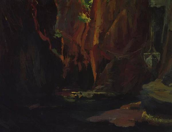Gorge Poster featuring the painting Gorge In The Mountains Of Carrara by Ge Nikolai