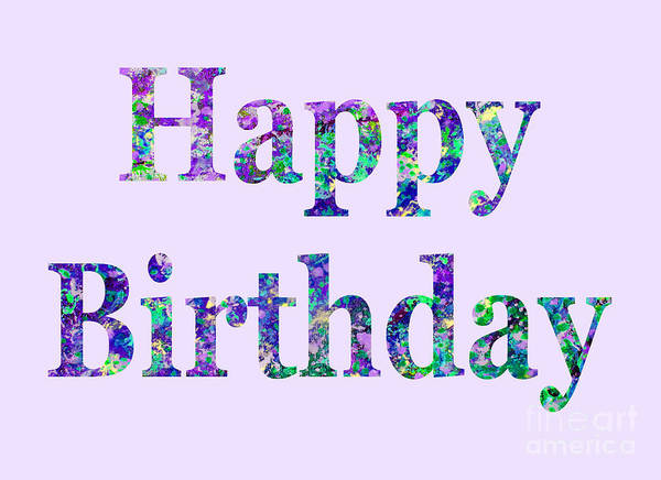 Poster featuring the digital art Happy Birthday 1002 by Corinne Carroll