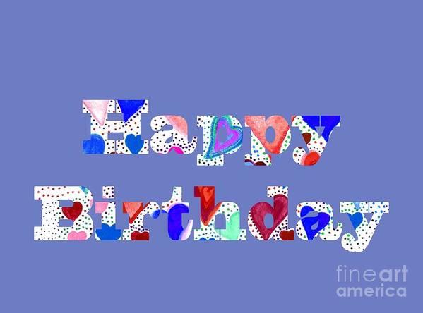Happy Birthday Poster featuring the digital art Happy Birthday 1004 by Corinne Carroll