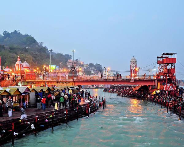 Har Ki Pauri - Haridwar - India Poster by Image By Anjan05