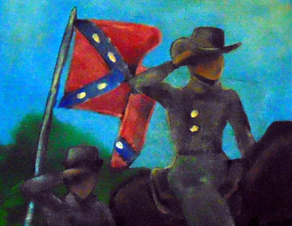 Confederate Poster featuring the painting Honor of the slain by Loretta Nash