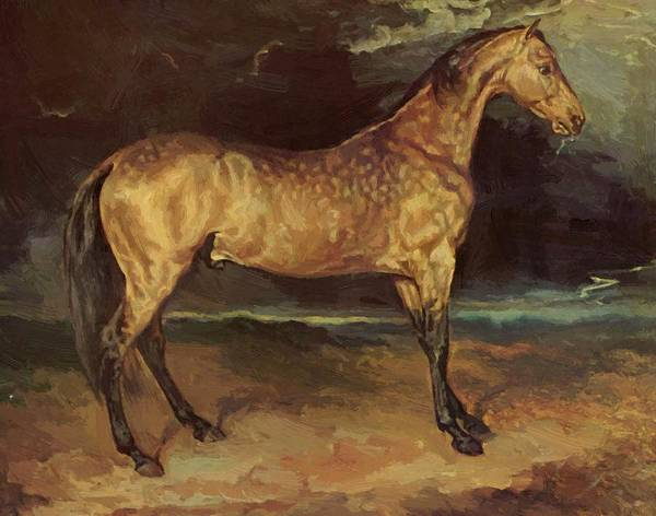 Horse Poster featuring the painting Horse In The Storm 1821 by Gericault Theodore