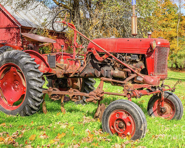International Harvester Poster featuring the photograph International Harvester F-cub Vintage Tractor by Edward Fielding