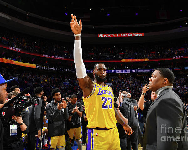 Thank You Poster featuring the photograph Kobe Bryant And Lebron James by Jesse D. Garrabrant